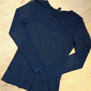 H&M | navy long sleeve top